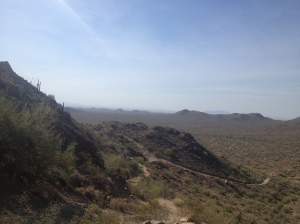 Overlooking the San Tan Mountains