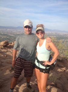 Proud daddy/daughter moment!  The top of Camel Back Mountain!